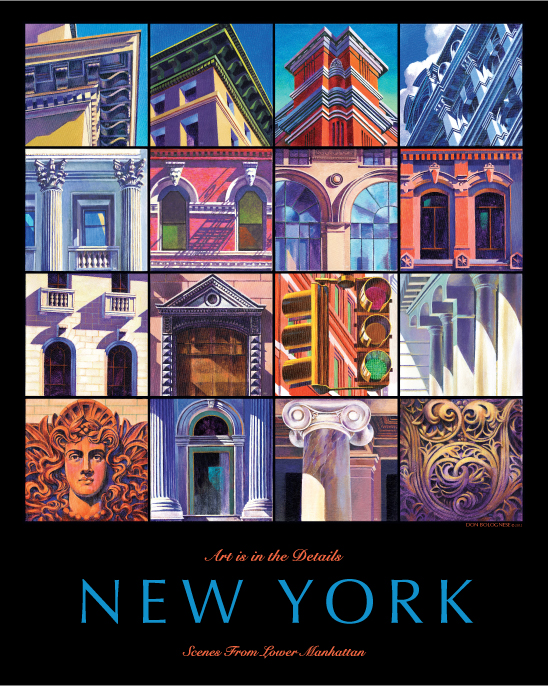 poster image: New York, art is in the details